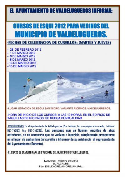 Curso de esqui en Riopinos. 2012