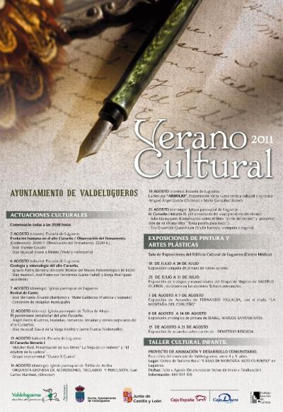 Verano cultural 2011. Cartel anunciador