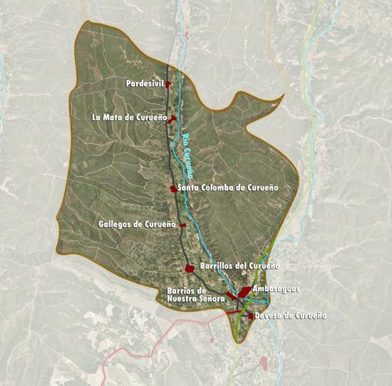 Mapa pueblos Santa Colomba